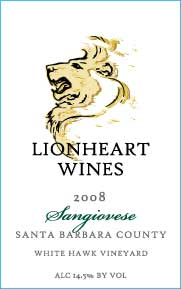 2008 Sangiovese, White Hawk Vineyard, Santa Barbara County